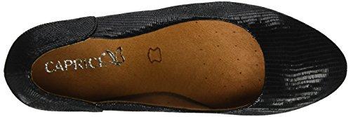 Caprice de Reptile Tacón Negro Mujer Zapatos 22404 Black para r1AOwvrq