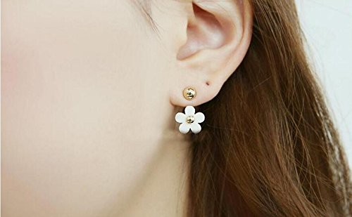 (JD Million shop 2017 New Hot ! Fashion Fine Jewelry Cute Daisy Petals Gold Color Elegance Neckband Stud Earrings For Women Ladies' Gifts E-277)