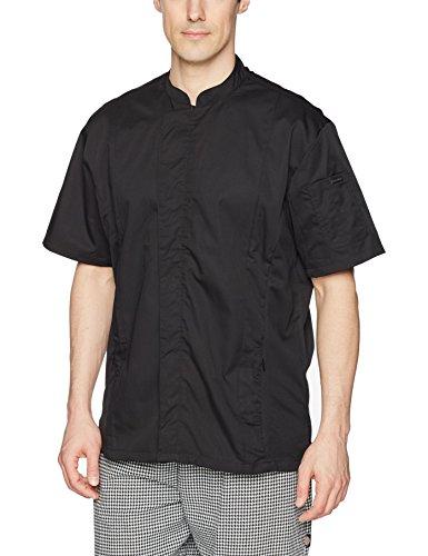 Chef Works Men's Bristol Signature Series Chef Coat, Black, Medium
