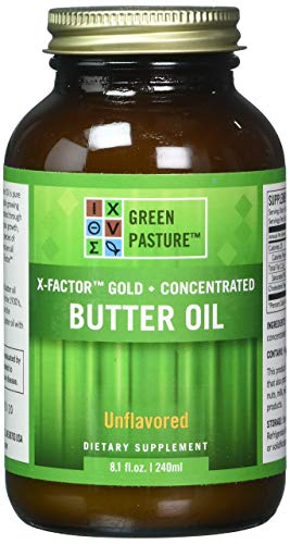 X-Factor High Vitamin Gold Butter Oil 8oz Gel - PLAIN Flavor (X Factor Gold High Vitamin Butter Oil)