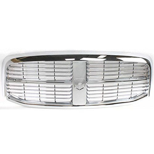 Koolzap For 06-09 Ram Pickup Truck Front Grill Grille Assembly Chrome CH1200281 - Truck 3500 Chrome Grill