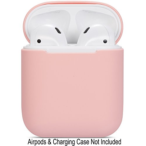 Watruer Compatible Airpods Case, Protective Ultra-Thin Soft Silicone Shockproof Non-Slip Protection Accessories Cover Case for Apple Airpods 2 & 1 Charging Case - Pink