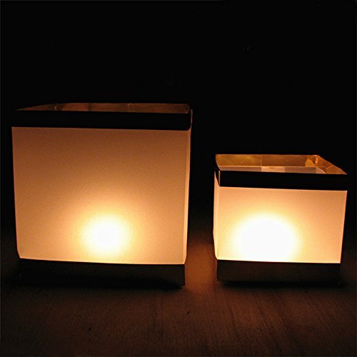 Ecape 5.9 Inch Water Floating Candle Lanterns Paper Lante...