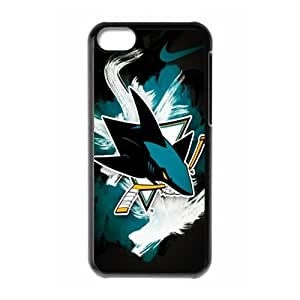 Design-2 Print Black Case With Hard Shell Cover for Apple iPhone 5C Sports NHL San Jose Sharks logo