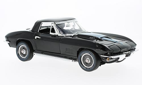 Autoworld AMM1099 1967 Chevrolet Corvette 427 Tuxedo Black (MCACN) Limited Edition to 1002pcs 1/18 Diecast Model -