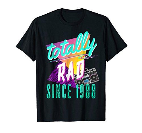 Mens Totally Rad 80s Throwback T-Shirt - Funny 1988 Birthday Tee Medium (80s Aerobic Costume)