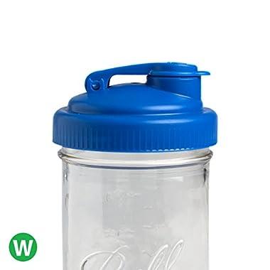 reCAP Mason Jars POUR, Wide Mouth, Canning Jar Lid, Blue
