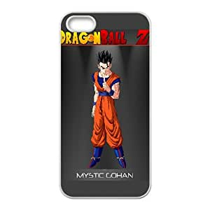 Mystic Gohan Dragon Ball Z Anime iPhone5s Cell Phone Case White Transparent Protective Back Cover 1461