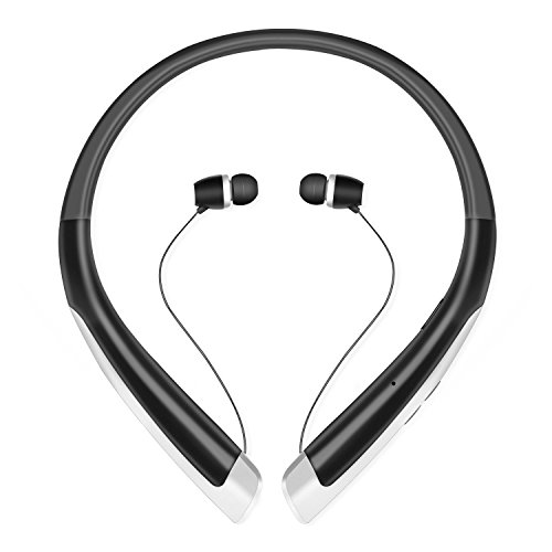 high-quality Bluetooth Headphones, 7FHLP Wireless Sports Earphones Stereo Sweatproof Earbuds Neckband Retractable Earplugs with Mic for Gym Running Headsets,up to 8 hours working