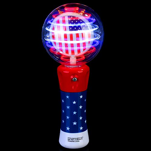 Fun Central O561 LED Spinner Wand - Red-White-Blue