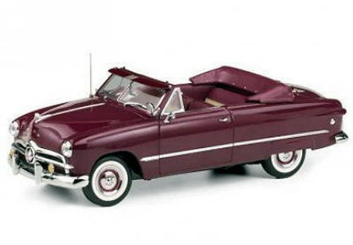 1949 Ford Convertible (FRANKLIN MINT 1949 Ford Custom Convertible LE Diecast 1:24 Scale NEW MIB)