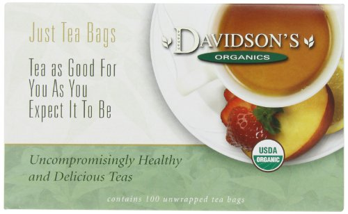 Davidson's Organic Tea Cherry Vanilla, 100-Count Tea Bags