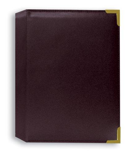 4X6 1-UP 24 PHOTOS OXFORD BRASS CORNER ALBUM - BURGUNDY - Photo Album Pioneer Photo Albums