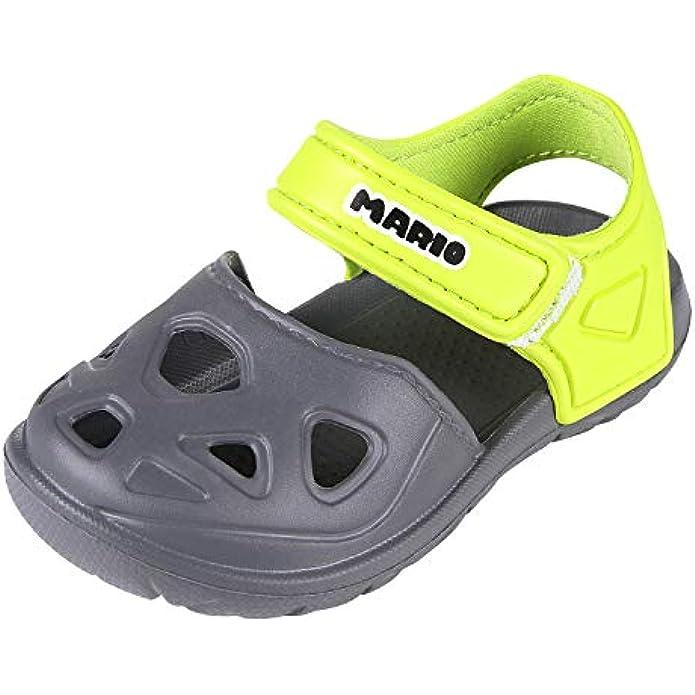 Toddler Girl Boy Summer Closed Toe Sandals Anti-slip Lightweight Beach Clog Shoes For Little Kids