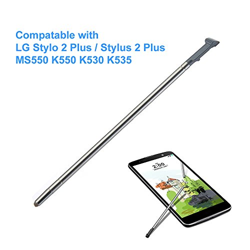 EMiEN Touch Stylus Pen Replacement Part for LG Stylo 2 Plus (Stylus 2 Plus) MS550 K550 K535 K530 (Gray) - Touch 2 Stylus