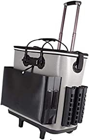 KDKDA Fishing Trolley case Hard Cover Multi-Function Thick and Durable Big Wheel can sit on one Hard Cover Alu
