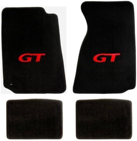 Lloyd Mats Mustang Red GT Heavy Plush Black Floor Mats