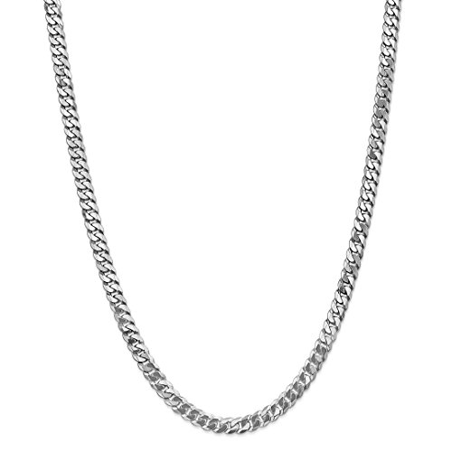 14kt Gold Curb Link Necklace - ICE CARATS 14kt White Gold 6.25mm Beveled Link Curb Necklace Chain Pendant Charm Flat Fine Jewelry Ideal Gifts For Women Gift Set From Heart