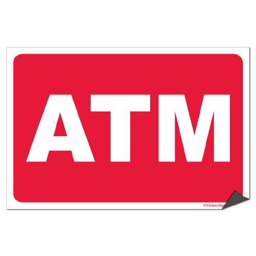 VictoryStore Sticker - ATM Vinyl Sticker, Set of 2, Size 6