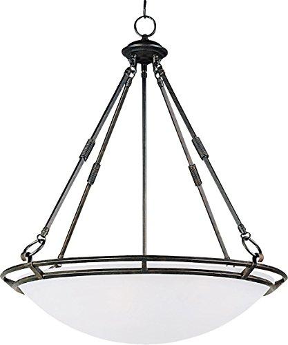 Pendants 5 Light Bulb Fixture with Bronze Finish Iron Material Medium Bulbs 25 inch 500 Watts