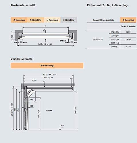 Doppelgaragentor maße  HÖRMANN, Sektionaltor, RenoMatic light 2017, EPU 40, Inkl. Antrieb ...