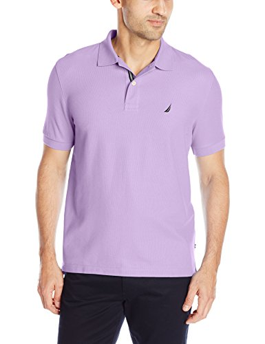 Nautica Men's Performance Pique Polo Shirt, Lavendula, Large ()