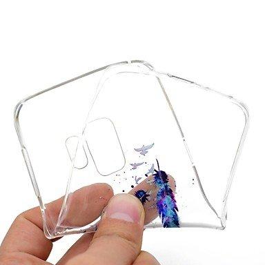 Casos hermosos, cubiertas, Funda Para Samsung Galaxy S9 Plus S9 Transparente Diseños Cubierta Trasera Plumas Suave TPU para S9 S9 Plus S8 Plus S8 S7 edge S7 S6 edge ( Modelos Compatibles : Galaxy S7 E Galaxy S5 Mini