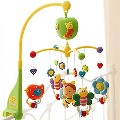MAJINCGJ Newborn baby toy Multifunctional Baby Bed Bell, Baby Rattle Bed Bell Baby Toy Music Rotating Bell 3-6-9 Months Newborn Soothing Educational Toys Children Bedside Bell Pendant Sleepy Ornaments : Baby