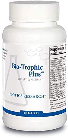 Biotics Research Bio-Trophic Plus™ – Food-Form Comprehensive Multivitamin/Mineral, Glandular Support, Organic Beet Concentrate, Citrus Bioflavonoids, SOD, Catalase. 90tabs