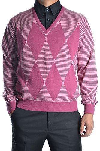 Ballantyne Men's Mcbi10923 Pink Cashmere Sweater