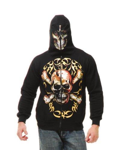 Boy's Skull and Crossbones Hoodie Costume - Crossbones Hoodie