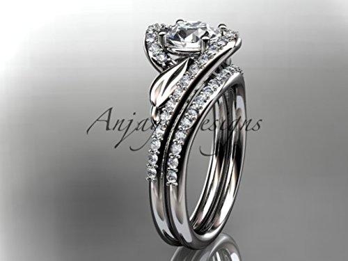 Amazoncom platinum diamond leaf and vine wedding ring engagement