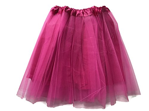 Company Dance Costumes Kelly (Rush Dance Teen Adult Classic Ballerina 3 Layers Satin Lining Tulle Tutu Skirt (Teen/Adult, Hot)