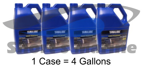 Yamaha Yamalube 4M Outboard FC-W 10W-30 Four Stroke Engine Oil Case of 4 Gallons (Yamaha Four Stroke)