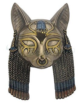 Bastet Mask Egyptian Wall Plaque Sculpture