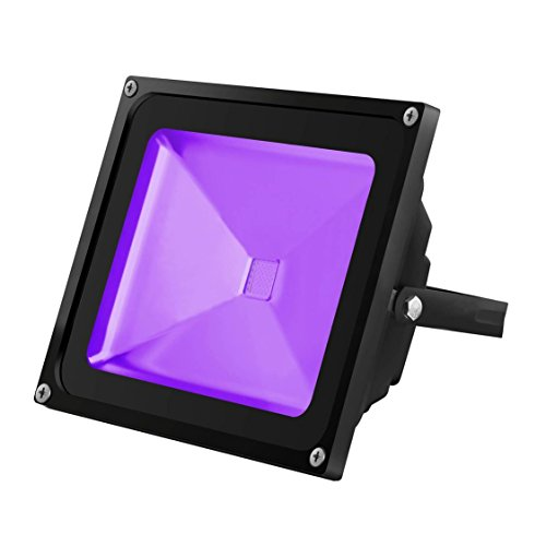 UV LED Black Light, YKDtronics Indoor/Outdoor 50W UV LED Flood Light, Ultra Violet LED Flood Light for Neon Glow, Blacklight Party, Stage Lighting, Fluorescent Effect, Glow in The Dark and Curing by YKDtronics