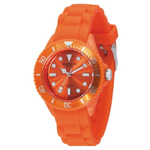 Madison Candy - Madison New York Quartz Watch Candy Time Mini Orange with Plastic Strap