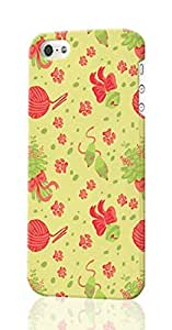 Catnip Kitty Cat Pattern Image - Protective 3d Rough Case Cover - Hard Plastic 3D Case - For iPhone 4 4S