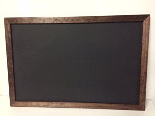 Menu Display Board 24 X 36 Black Chalkboard Hardwood Frame Dark Stain