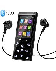 MP3 Player, 16 GB MP3 Player mit Bluetooth 4.2, tragbarer Hi-Fi-Musikplayer mit FM-Radio/Sprachrekorder, 2.4 Zoll Bildschirm, bis zu 128 GB erweiterbar (Kopfhörer, Armband inklusive)