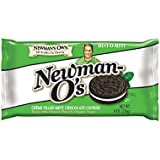 Newman's Own Newman-O's, Crème Filled Mint Chocolate Cookies, 8-Ounce Packages (Pack of 6)