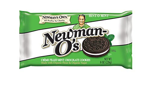Cookies Mint Organic (Newman's Own Newman-O's, Crème Filled Mint Chocolate Cookies, 8-Ounce Packages (Pack of 6))