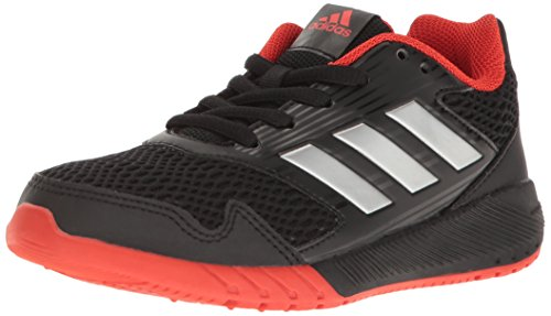 Boys Tennis Shoes - adidas Kids' Altarun Sneaker, Core Black, Silver Met, Core Red s, 2.5 M US Little Kid