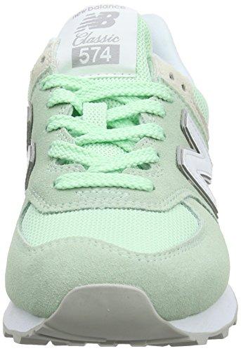 Donna 574v2 Tennis Da New Scarpa lime Balance Multicolore wHXxHFAfq