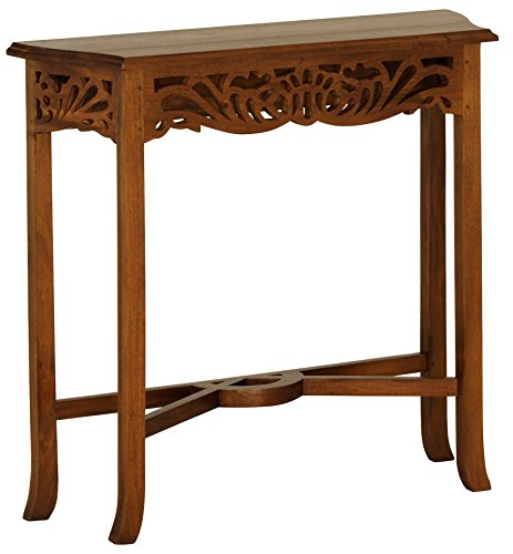 NES Furniture aba10430 Bordeaux End Table Fine Handcrafted Solid Mahogany Wood, 32 inches, Pecan
