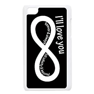 Treasure Design I Love You To Infinity And Beyond HD Apple iPod Touch 4 hard case covers