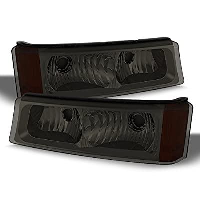 For 03-06 Avalanche| Silverado Smoked Parking Bumper Turn Signal Lights Lamp Pair Driver&Passenger Side: Automotive