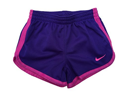 NIKE Girl`s Dry Tempo Shorts (Fusion Violet (26C273-P3P)/Pink/Violet, 2T)