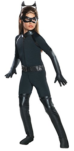 Girls Deluxe Catwoman Costume (XL -
