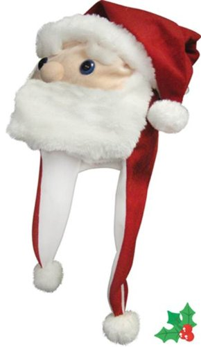 Winter Olympic Costume Ideas - Christmas Santa Hat with Poms and